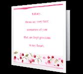 Precious Granddaughter greeting card