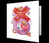 Love for Grandma and Grandpa Anniversary Printable Cards