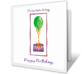 Happy Always Belated Birthday Printable Cards