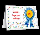 #1 Birthday and Year Birthday Printable Cards