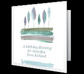 A Birthday Blessing Birthday Printable Cards