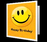 A Happy Face Birthday Birthday Printable Cards