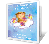 A Hug for You Birthday Printable Cards