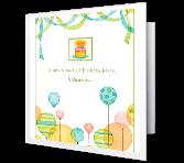 Balloon Invitation Birthday Printable Cards