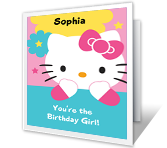 Birthday Girl Birthday Printable Cards