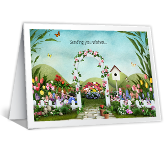 Blooming Wishes Birthday Printable Cards