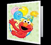 Elmo says Happy Birthday Birthday Printable Cards