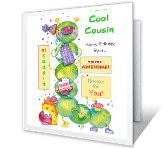 For a Cool Cousin Birthday Printable Cards