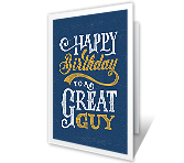 Great Guy Birthday Printable Cards