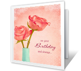 Happiness Blooms Birthday Printable Cards