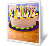 Happy Candle Blowing Birthday Printable Cards