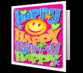 Happy Happy Happy Birthday Printable Cards