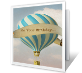 High Flyin' Wishes Birthday Printable Cards