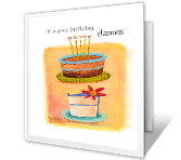 Live It Up Birthday Printable Cards