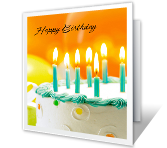 Slice of Happy Birthday Printable Cards