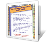 Top Ten Reasons It's Great to be a Man Birthday Printable Cards
