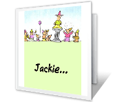 We All Joined Together Birthday Printable Cards