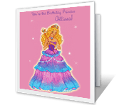 You're the Birthday Princess Birthday Printable Cards