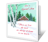 A Special Son Christmas Printable Cards