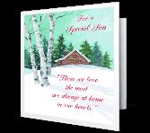 A Special Son Christmas Printable Cards