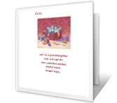 Adorable Granddaughter Christmas Printable Cards