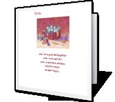 Adorable Granddaughter Christmas Printable Cards