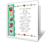 Best Things in Life Christmas Printable Cards