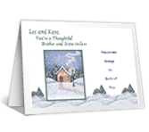 Brother and His Wife Christmas Printable Cards