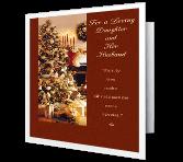 Daughter & Her Husband Christmas Printable Cards