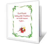 For A Loved Aunt Christmas Printable Cards