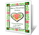 For A Loving Daughter Christmas Printable Cards
