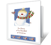 Fun for Grandchild Christmas Printable Cards