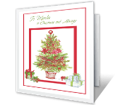 Grateful for Your Friendship Christmas Printable Cards