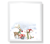 Greetings to Santa Christmas Printable Cards