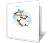 Happy Thoughts for You Christmas Printable Cards