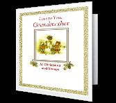 Love for Grandmother Christmas Printable Cards