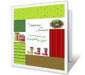 Love for Son and Daughter-in-law Christmas Printable Cards
