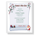 Nice List Certificate Christmas Printable Cards