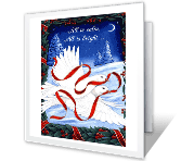 Peace and Love Christmas Printable Cards
