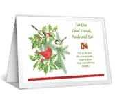 Remembering Friends Christmas Printable Cards