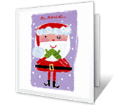 Santa's Terrific List Christmas Printable Cards