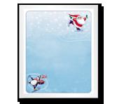 Skating Santa Christmas Printable Cards