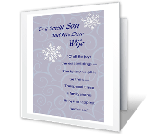 Son and His Dear Wife Christmas Printable Cards