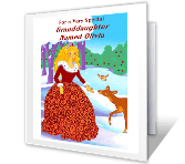 Special Granddaughter Christmas Printable Cards
