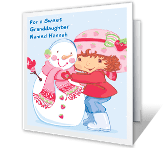 Sweet Granddaughter Christmas Printable Cards