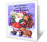 Terrific Great-Grandson Christmas Printable Cards