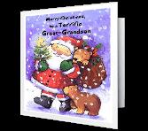 Terrific Great-Grandson Christmas Printable Cards
