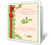 The Wonderful Woman I Married Christmas Printable Cards