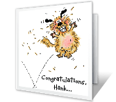Bouncing Dog Congratulations Printable Cards