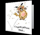 Bouncing Dog Congratulations Printable Cards
